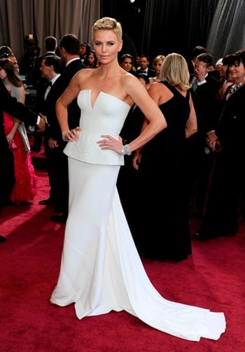 Charlize Theron in Christian Dior dress. One of the top 20 most expensive clothes in the world
