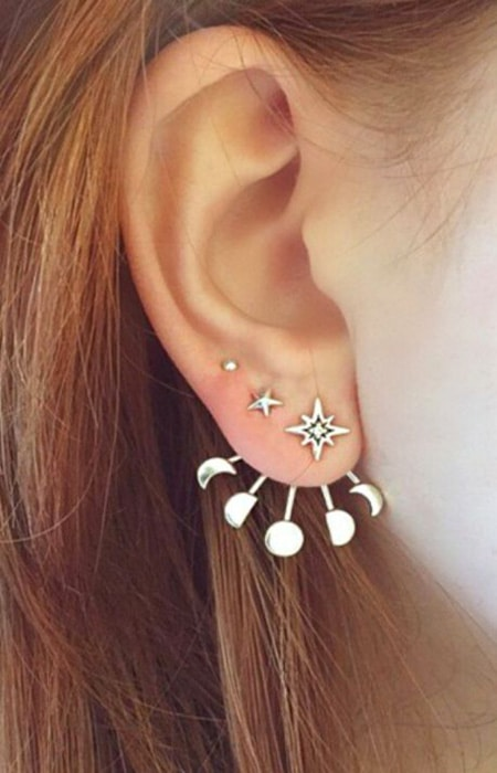 50 unusually cute ear piercings for every fashionista. Black Bedroom Furniture Sets. Home Design Ideas
