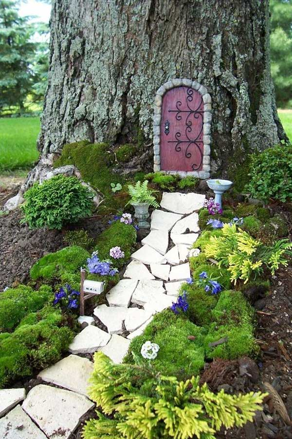 25 best miniature fairy garden ideas to beautify your for Outdoor fairy door