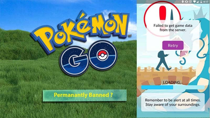 Pokémon go failed to get game data from the server