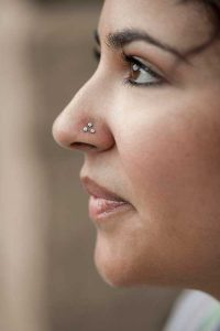 triple nostril piercing