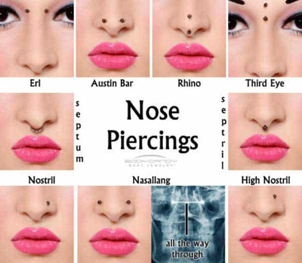 types-of-nose-piercings