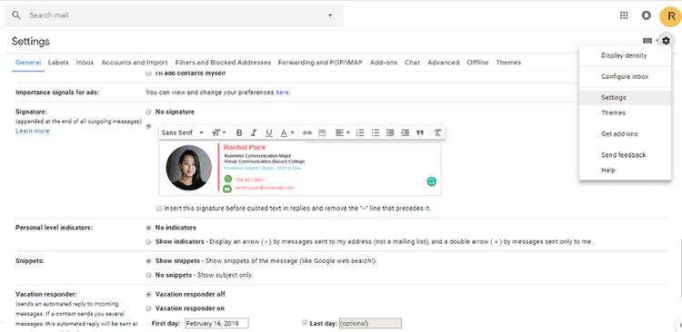 how to design the best college student email signature