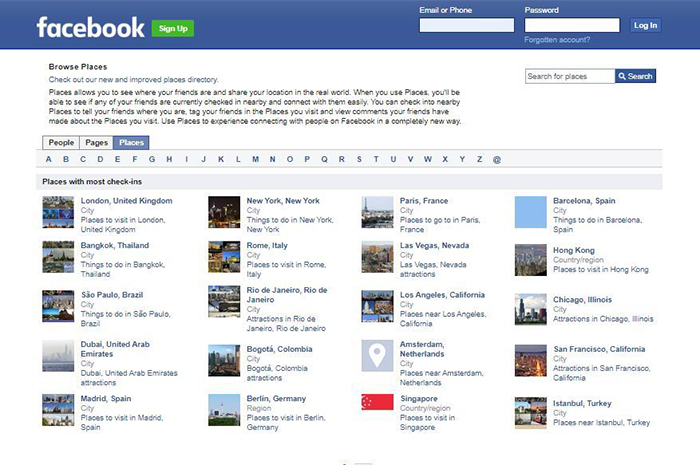 facebook search people by city